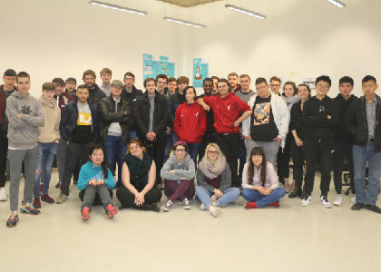 DkIT Hosts 25 French students as part of a Computing Workshop