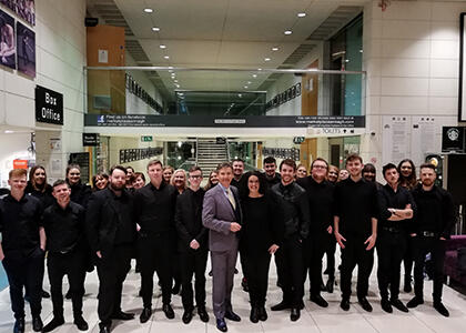 DkIT Choir join special St.Patrick's Day TV Production at the Market Place Theatre