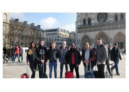Computing students travel to Lens, France