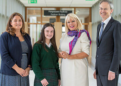 Minister Mary Mitchell O'Connor Visits DkIT to Show Support to St Louis Secondary School