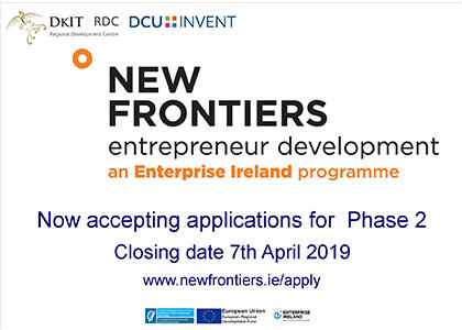 DkIT announces open applications for Phase 2 of New Frontiers