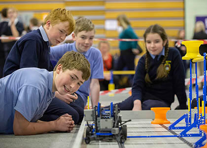 Primary school students went head-to-head at VEX Robotics North East Regional Competition