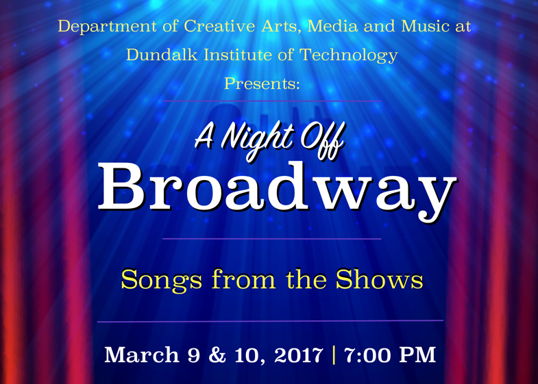 A Night off Broadway - Songs From the Shows by Music Theatre Ensemble