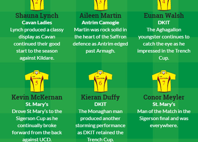 DkIT Students Listed on Gaelic Life Team of the Week