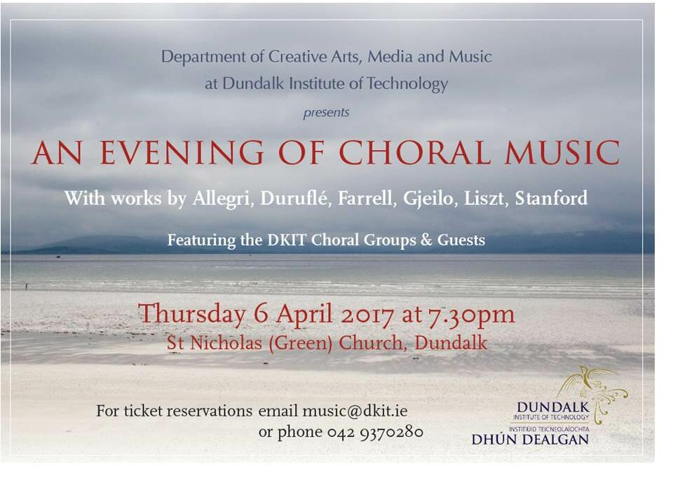 DkIT Annual Spring Choral Concert
