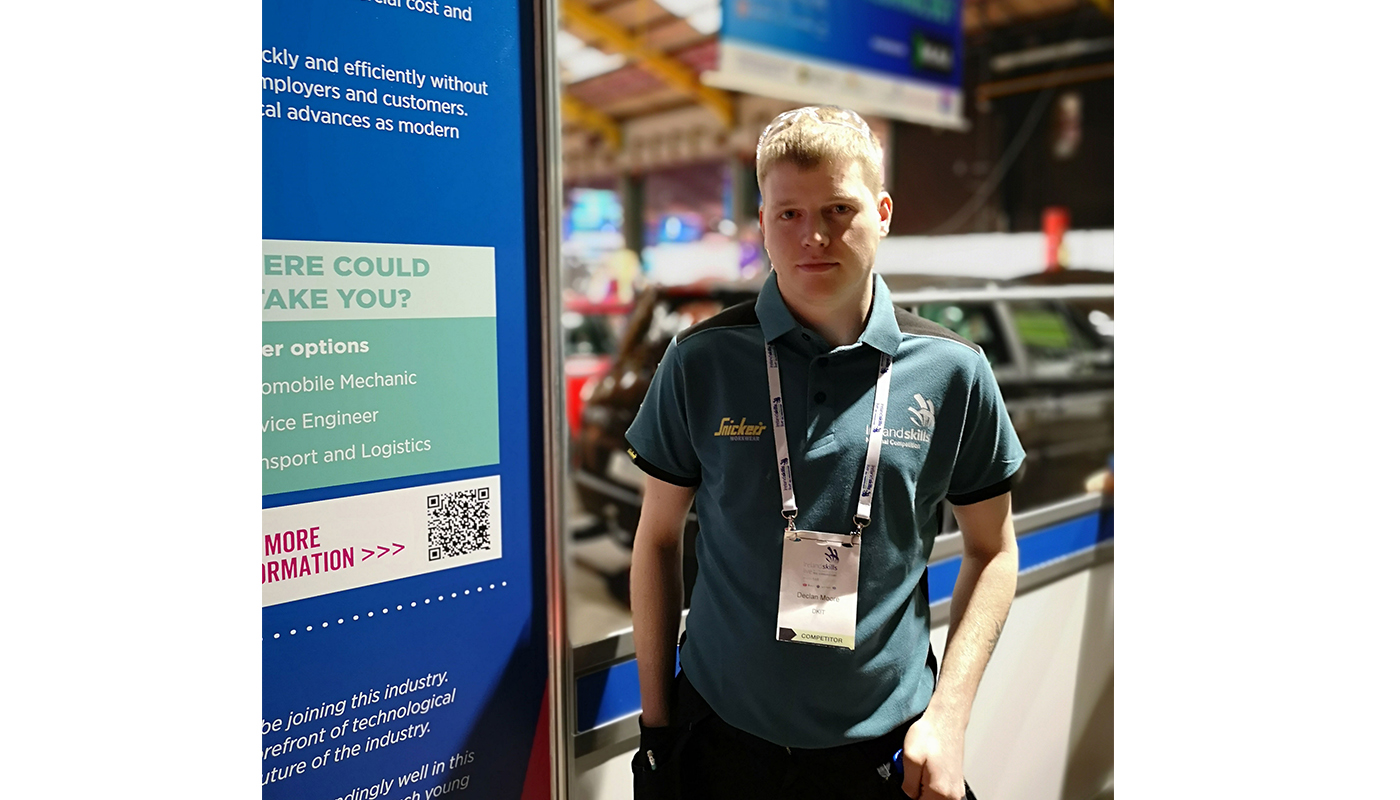 Declan Moore, winner in the Automobile Technology category at Ireland Skills Live and DkIT Apprenticeship graduate