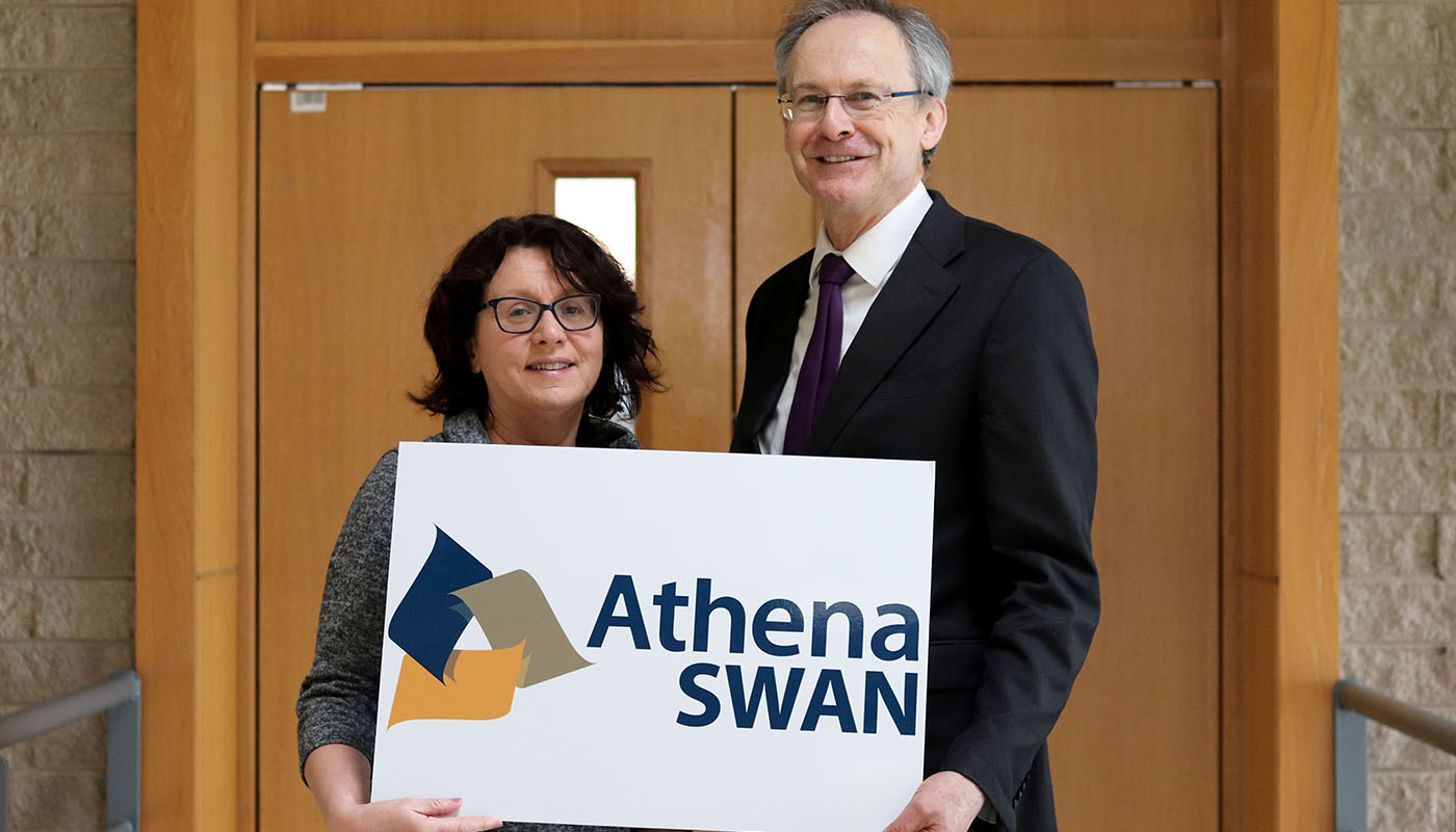 DkIT President, Michael Mulvey PhD with newly appointed Athena SWAN Project Coordinator at DkIT Ciara O'Shea.