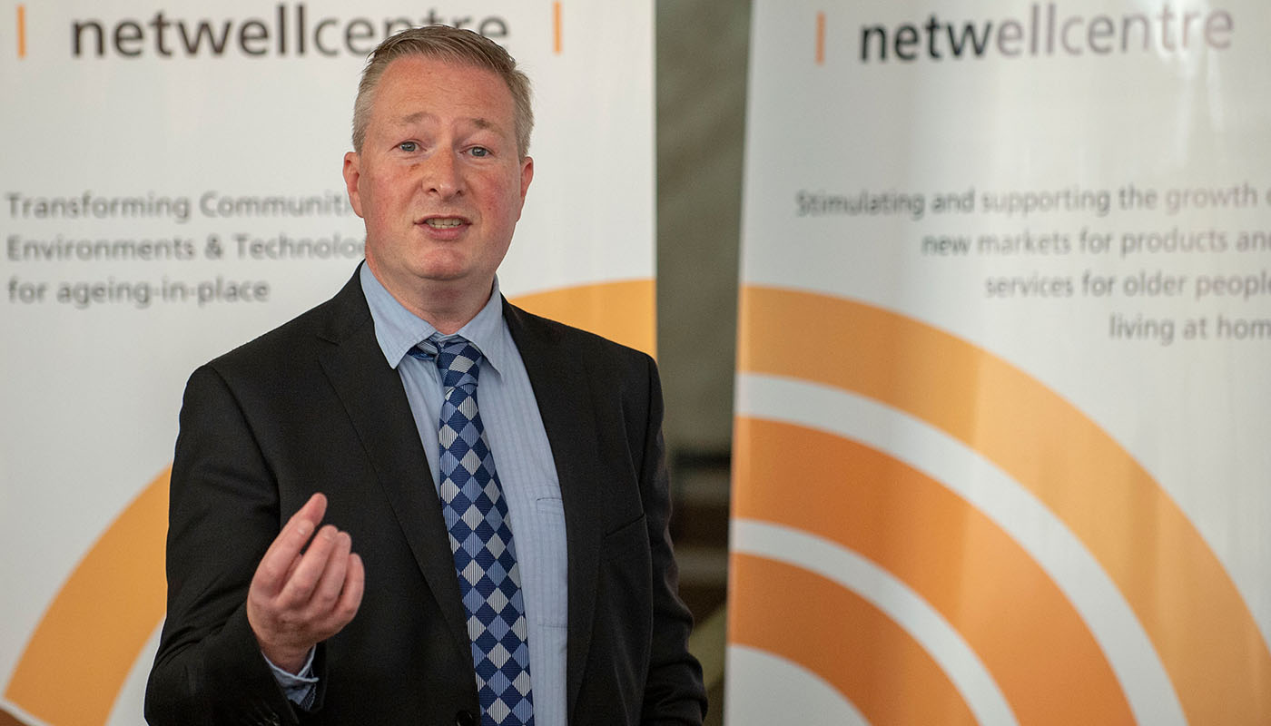 Dr Fergal McCaffrey, Regulated Software Research Centre at the launch of new DkIT Institute of Connected Health & Wellbeing. (Photo: Ciara Wilkinson)