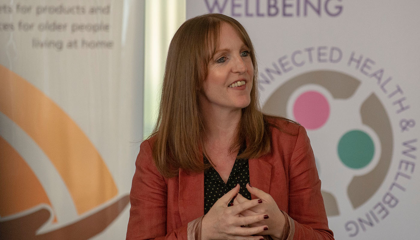 Dr Julie Doyle, Netwell/CASALA at the launch of new DkIT Institute of Connected Health & Wellbeing. (Photo: Ciara Wilkinson)