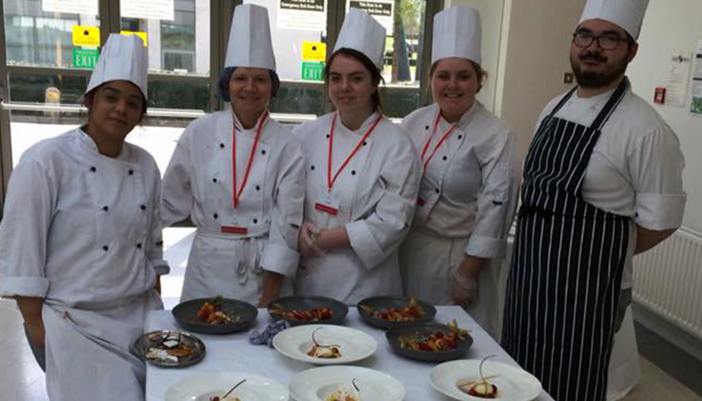 DkIT Culinary Arts students at the All Island Civic Dialogue on Brexit in DkIT, 30th April 2018