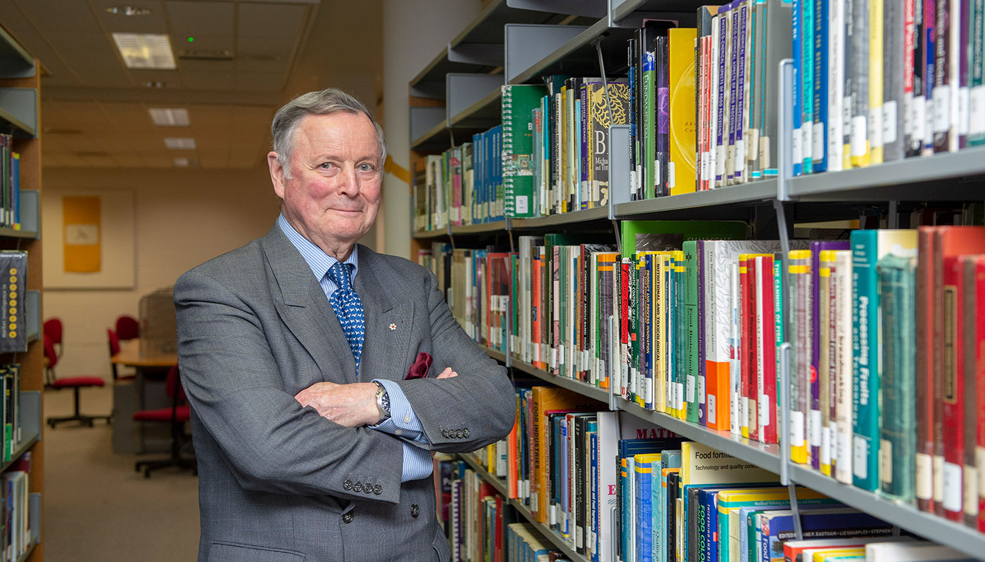 General John de Chastelain pictured in the newly named de Chastelain Library at DkIT