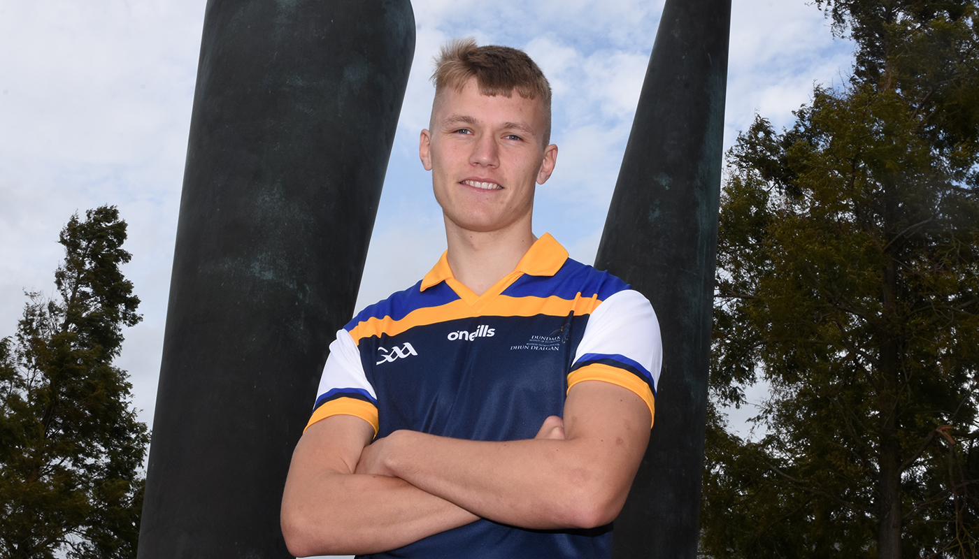 DkIT Sport Scholar and Business Studies student, Rian O'Neill [20] in the running for Young Footballer of the Year at the 2019 GAA-GPA PWC All-Star awards.
