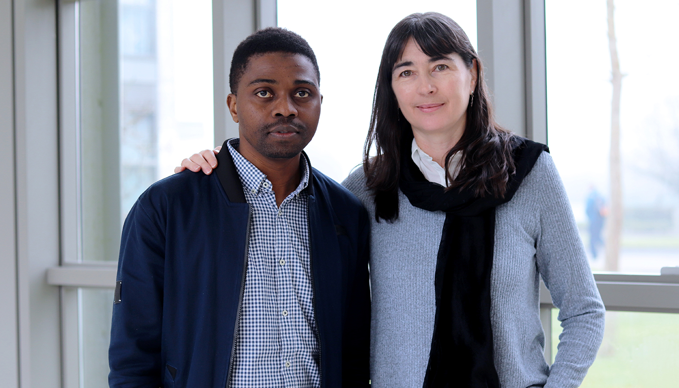 Pictured left to right: DkIT student Archie Sita and Charlotte Byrne, Education Officer, Irish Refuge Council