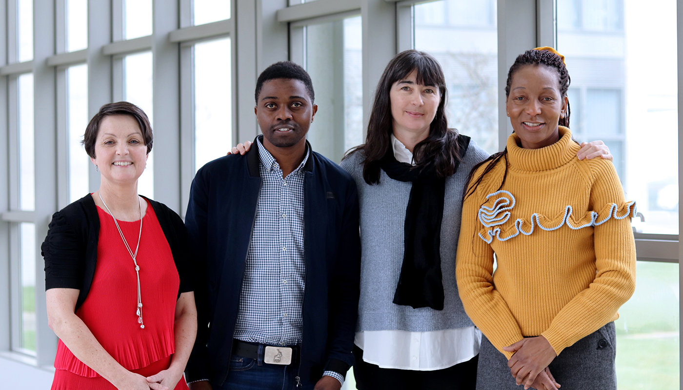 Pictured left to right: Dr. Bernadette Brereton of the Sanctuary Group at DkIT; DkIT student Archie Sita; Charlotte Byrne, Education Officer, Irish Refuge Council and Dr. Colletta Dalikeni, of the Sanctuary Group at DkIT