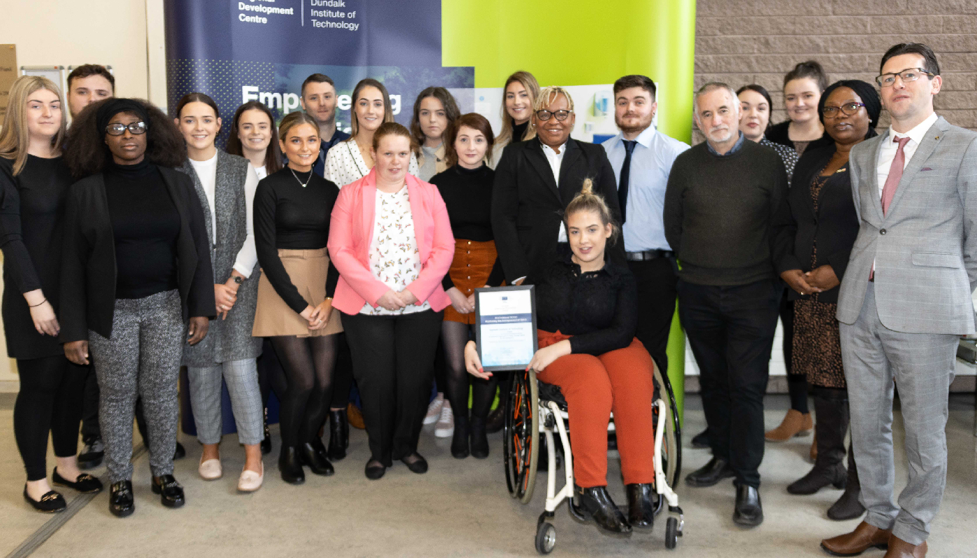 DkIT Community Youth Work students receive the European Enterprise Promotion Awards 2019