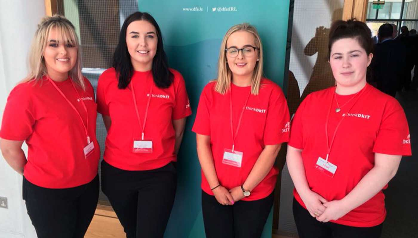DkIT Event Management students participate as volunteers at the All Island Civic Dialogue on Brexit in DkIT, 30th April 2018