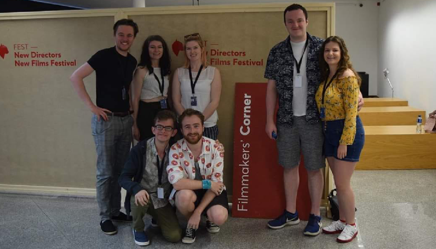 Students who attended the FEST Film Festival in Portugal