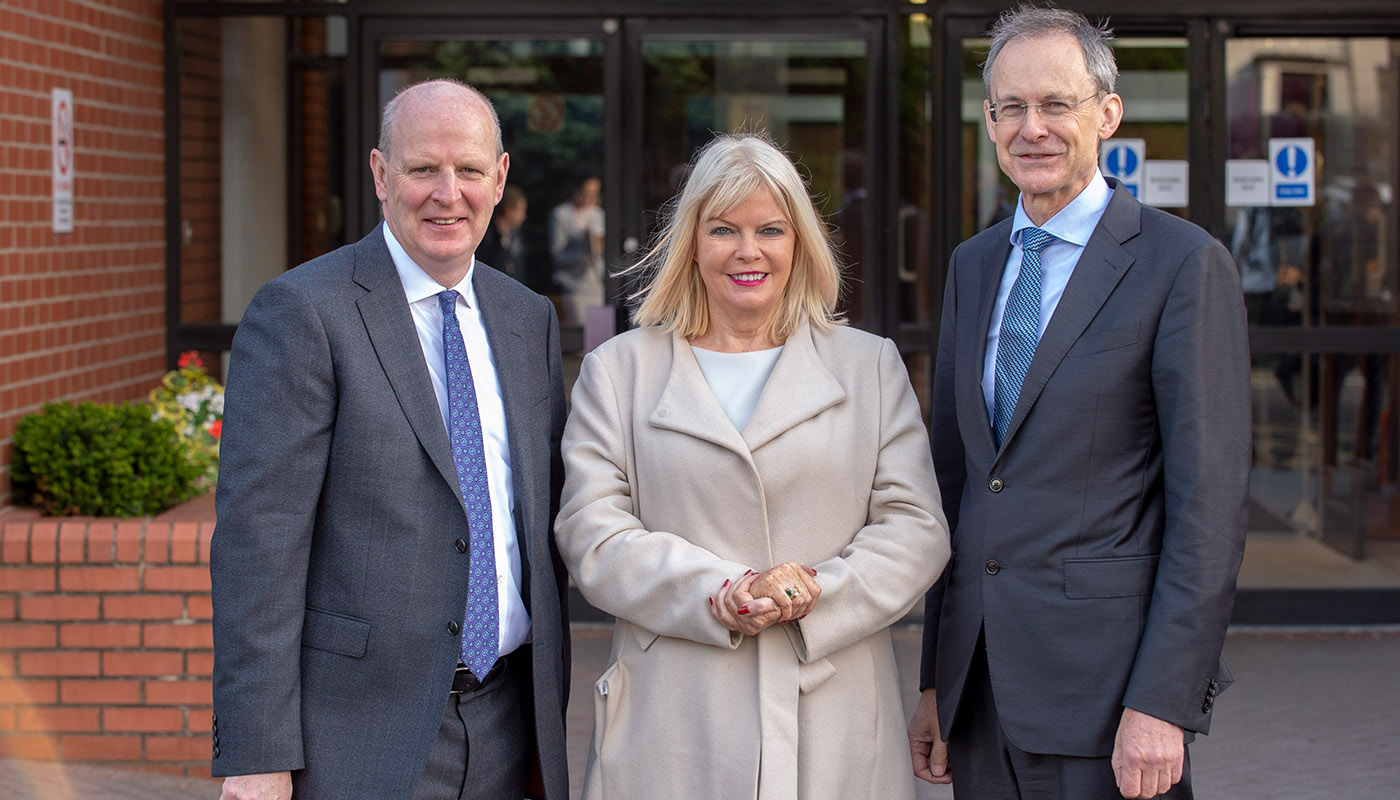 Minister Mary Mitchell O'Connor, TD attends North East Further & Higher Education Alliance meeting in Newry today with Brian Doran, Chief Executive of Southern Regional College (left) and Dr. Michael Mulvey, DkIT President (right).