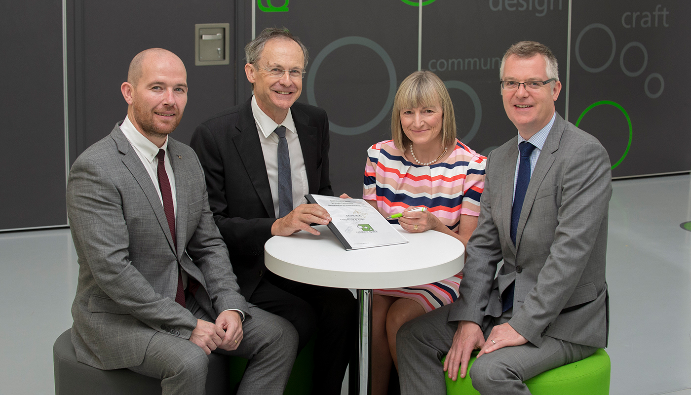 DkIT team at the recent signing of the new Strategic Partnership with Creative Spark