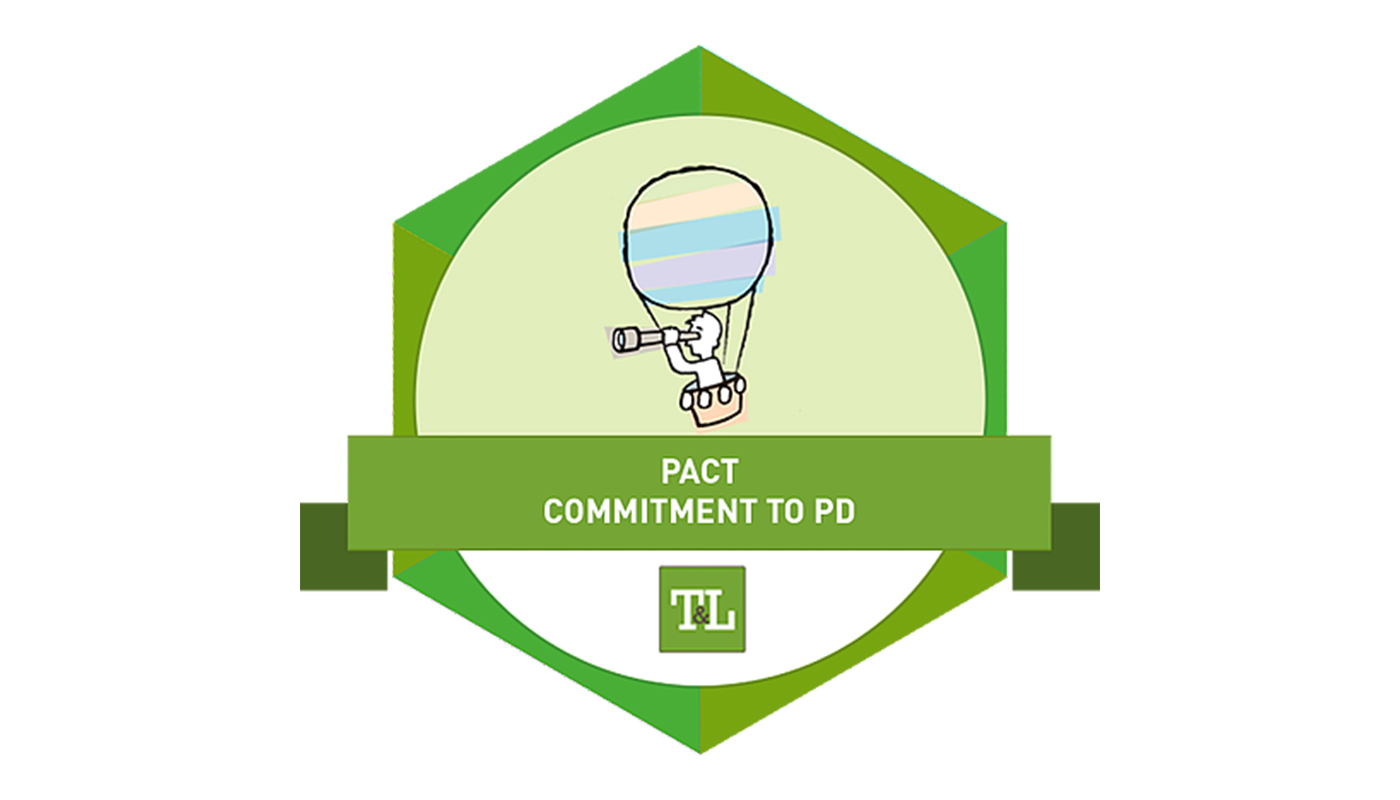 Pact Commitment to Professional Development Badge