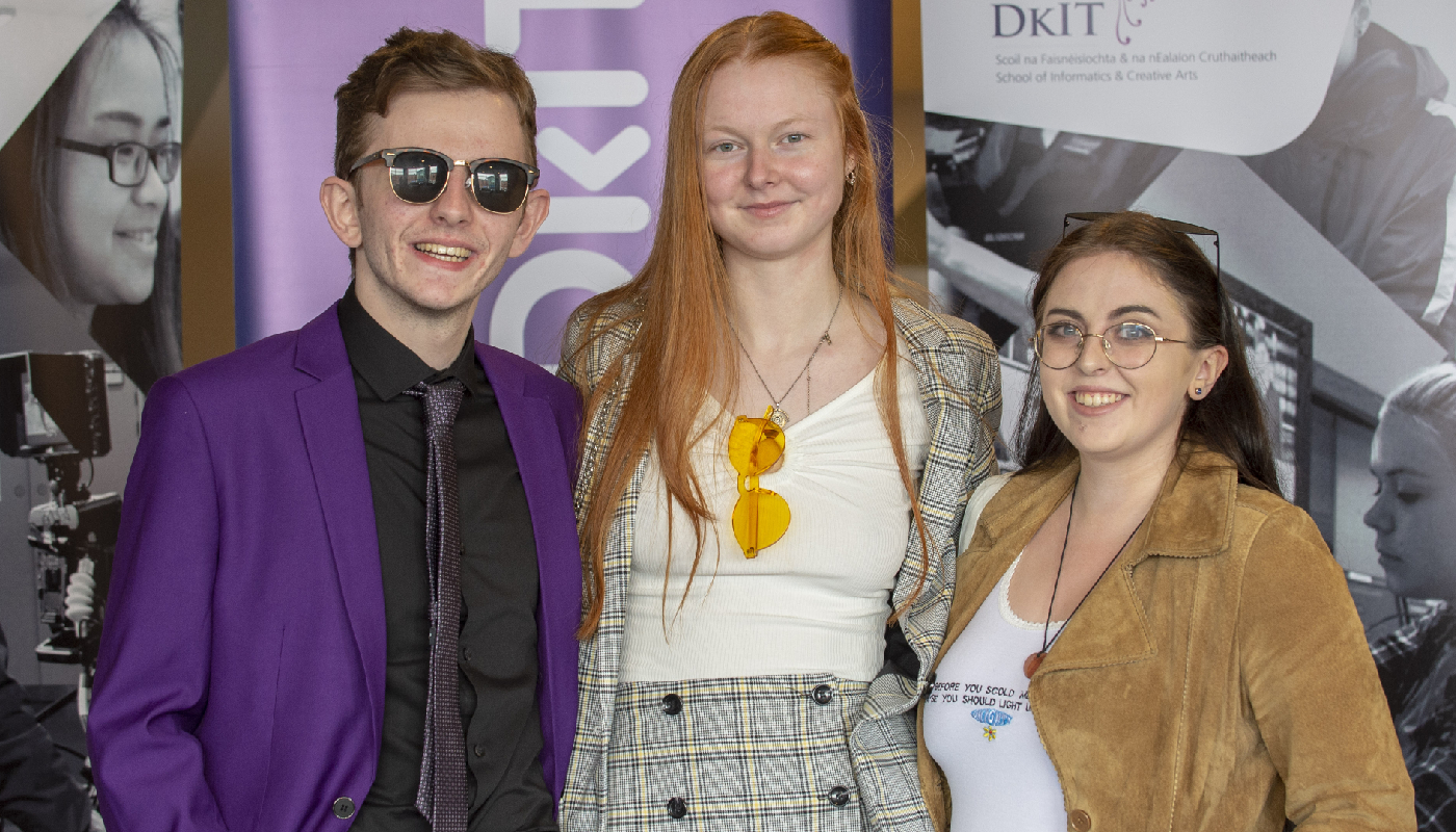 (L-R) 4th year Film & Television Production students, representing their 'Dysphotia' Film project - Terry Creagh, Mullingar; Tessa Coburn, Dundalk and Laura Fay, Coolock