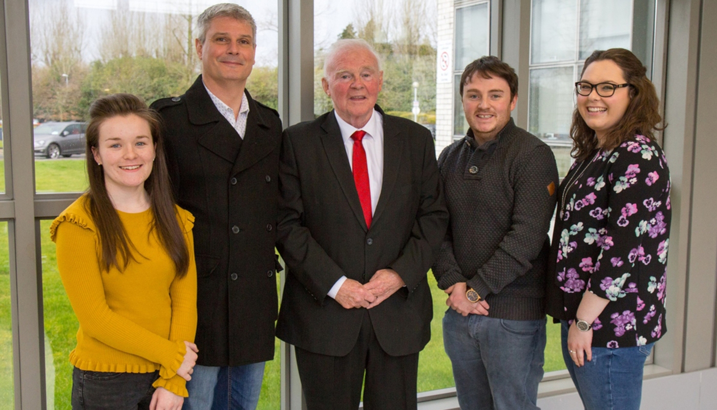 DkIT Students with John Teeling as part of the Entrepreneurship Lecture Series 2018